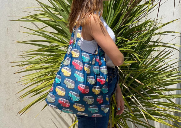Sac de shopping pliable 100% recyclé - motif combi