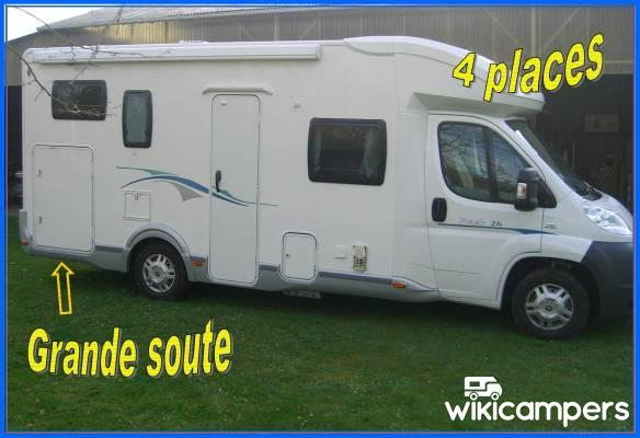 location camping car profil le mans 72 fiat chausson flash 26 wikicampers. Black Bedroom Furniture Sets. Home Design Ideas